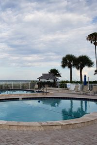 The Westchester pool on the Gulf of Mexico, Longboat Key, FL.