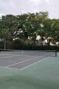 Tennis court at The Westchester, Longboat Key, FL.